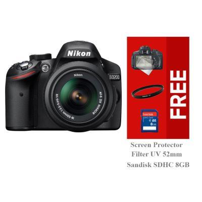 Nikon D3200 Kit (18-55mm VR II) - Hitam Free Screen Protector +