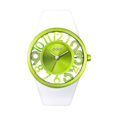 ODM DD153-01B White Green Jam Tangan Wanita