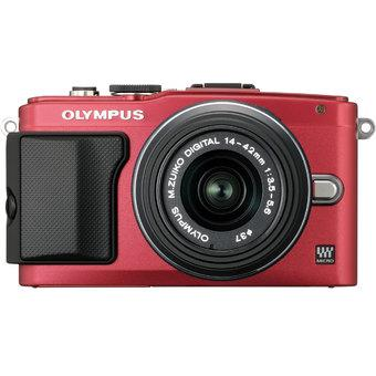 Olympus E-PL6 + 14-42mm + 40-150mm Twin Lens kit Red