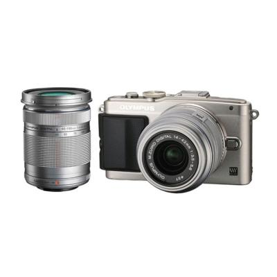 Olympus E-PL6 Pen Silver Double Kit 14-42mm + 40-150mm Kamera Mirrorless