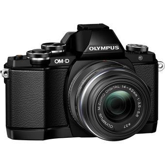 Olympus OM-D E-M10 Mirrorless Camera with 14-42mm Lens Black