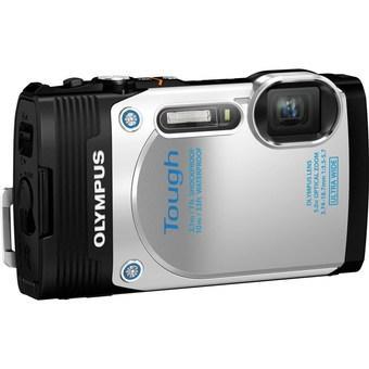 Olympus Stylus Tough TG-850 16 MP Waterproof Digital Camera White