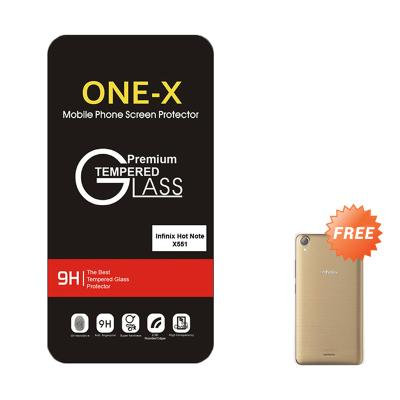One-X Tempered Glass Screen Protector for Infinix Hot Note X551 + Free Aircase