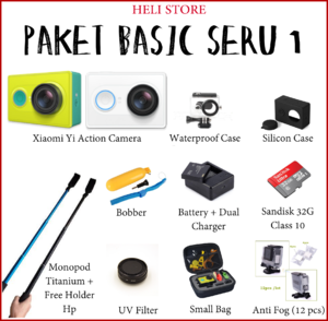 Paket Basic Seru 1 Xiaomi Yi Action Camera - Basic Edition