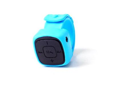 Paroparoshop MP3 Watch Black Strap Blue