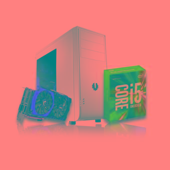 Pemmz Desktop Custom PC - Jade - Intel - 8GB RAM - Putih