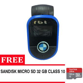 RBT CG-93 Car MP3 USB/TF Player With FM Modulator + Free Sandisk 32Gb Class 10 - Biru