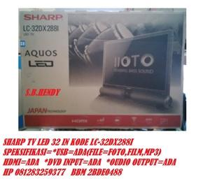 SHARP LED TV 32 IN LC_32DX288I