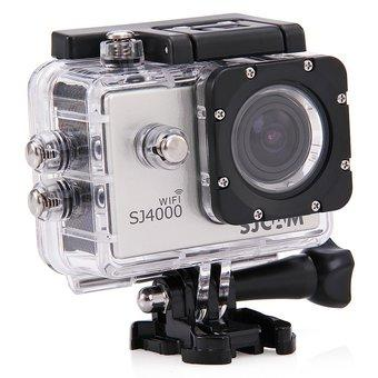SJCAM Original SJ4000 WiFi Action Camera 12MP 1080P H.264 1.5 Inch 170?Wide Angle Lens Waterproof Diving HD Camcorder Car DVR with Free Makibes Cleaning Cloth (Silver) (EXPORT)