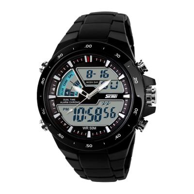 SKMEI Dual Time Digital Ring Watch Hitam - Jam Tangan Pria