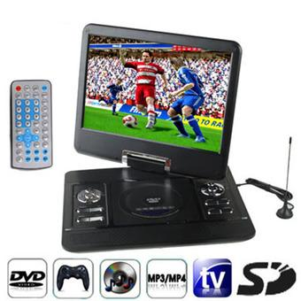 SUNSKY 14.5 inch TFT LCD Screen Digital Multimedia Portable DVD with Card Reader & USB Port, Support TV (PAL / NTSC / SECAM) & Game Function, 270 Degree Rotation, Support SD / MS / MMC Card, Support VGA Output(Black) (Intl)