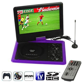 SUNSKY NS-958 9.5 inch TFT LCD Screen Digital Multimedia Portable DVD with Card Reader & USB Port, Support TV (PAL / NTSC / SECAM) & Game Function, 270 Degree Rotation, Support SD / MS / MMC Card (Purple) (Intl)