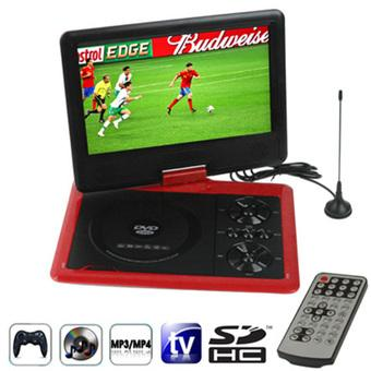 SUNSKY NS-958 9.5 inch TFT LCD Screen Digital Multimedia Portable DVD with Card Reader & USB Port, Support TV (PAL / NTSC / SECAM) & Game Function, 270 Degree Rotation, Support SD / MS / MMC Card (Red) (Intl)