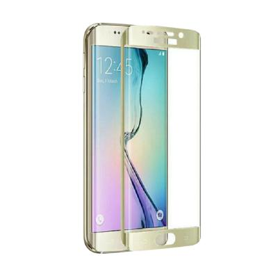 Samsung Full Curved Tempered Glass for S6 Edge - Gold