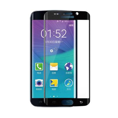 Samsung Full Curved Tempered Glass for Samsung S6 Edge - Black [9H]