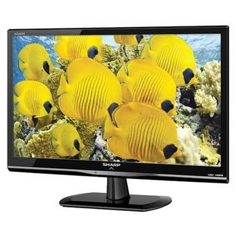 "Sharp 24"" Aquos LED TV - Hitam - Model LC-24LE107I"