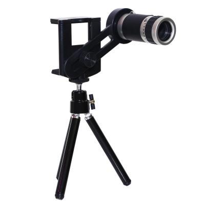 Tele Lens Quality Telescope 8x Zoom Telezoom for Smartphone - Hitam