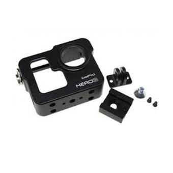 Third Party GP210 CNC Aluminium Cage For GoPro - Hitam