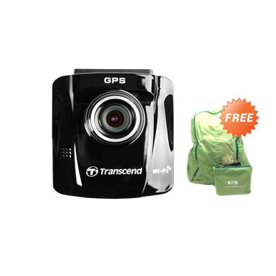Transcend Car Video Recorder DrivePro 220 Included 16GB MLC Hitam Action Cam + Tas Ransel