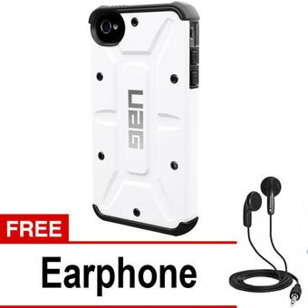 UAG Case For Iphone 4 4S Urban Armor Gear - White + Free Earphone