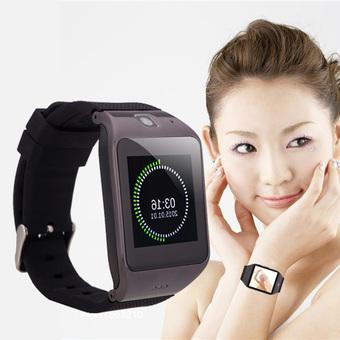 Uhappy UW1 1.55inch Waterproof Smart Wrist Touch Screen Watch Phone Black (Intl)