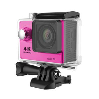 Universal Waterproof Ultra 4K WiFi SJ4000 1080P HD DV Action Sports Camera Video Camcorder For iPhone 6 6S Smartphone (Pink) (Intl)