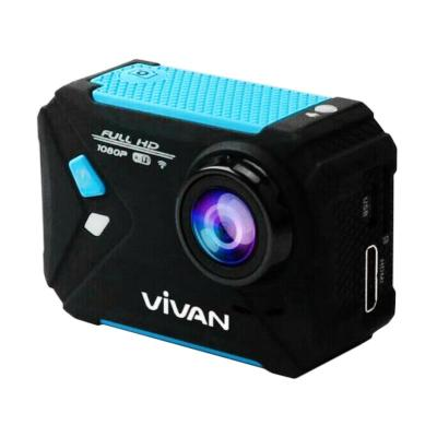 Vivan V-Pro1 Screen 1080P 170 Angle Waterproof Action Camera - Black Blue [1.5 Inch]