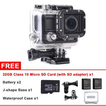 XCSource SJ5000 WiFi Full HD Helmet Waterproof Action Camera 2x Extra Battery 32GB LF603