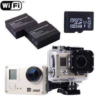 XCSource SJ5000 WiFi Full HD Helmet Waterproof Action Camera 2x Extra Battery 32GB LF604