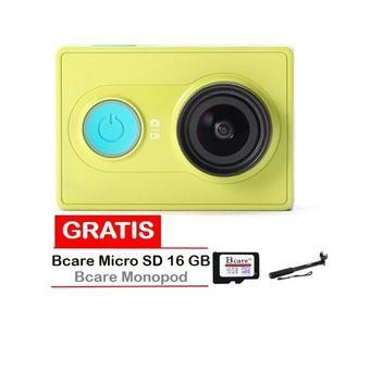 Xiaomi Yi Action Camera - 16 MP - Kuning + Gratis MicroSD 16 GB Class 10