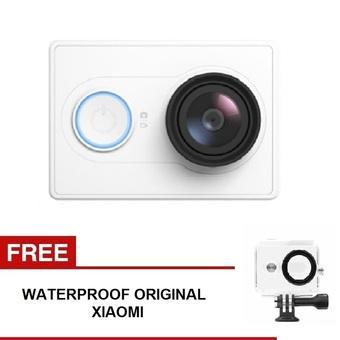 Xiaomi Yi Action Camera - 16 MP - Putih + Gratis Waterproof Original - Putih