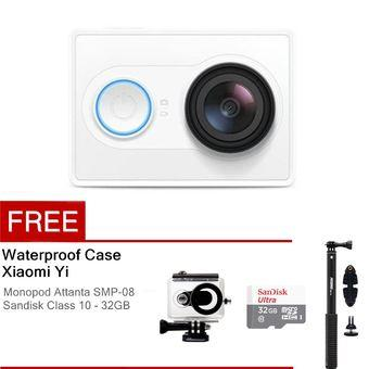 Xiaomi Yi Action Camera - 16 MP - Putih + Waterproof Case + Basic Package