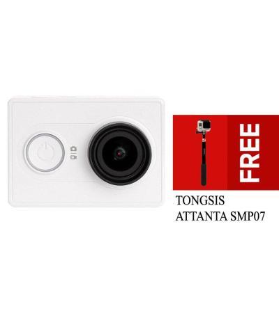 Xiaomi Yi Action Camera Original - Putih + Gratis Tongsis Attanta SMP07