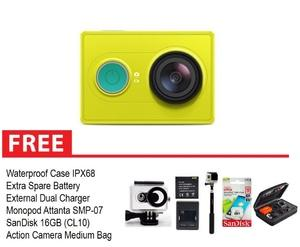 Xiaomi Yi Action Camera Paket Komplit 16GB