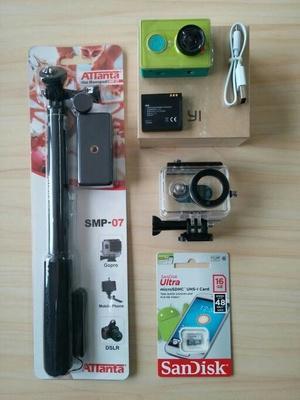 Xiaomi Yi Paket Lengkap Action Kamera