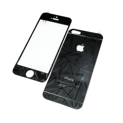 ZONA 3D Diamond Black Tempered Glass Screen Protector for iPhone 4