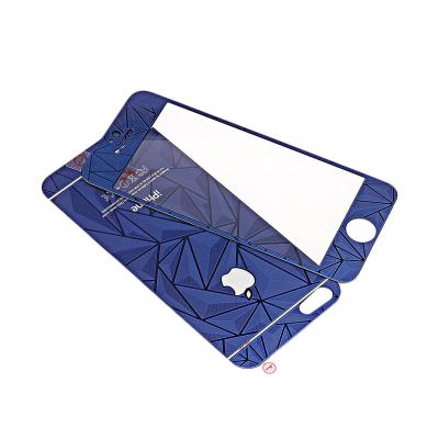 ZONA 3D Diamond Blue Tempered Glass Screen Protector for iPhone 4