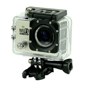 "sport Kamera SJ6000 WiFi 30 M tahan air DV Kamera action sports 12MP Full HD 1080 P 30fps 2.0 ""LCD Diving (Silver) (Intl)"