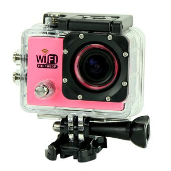 "sport Kamera SJ6000 WiFi 30 M tahan air DV Kamera action sports 12MP Full HD 1080 P 30fps 2.0 ""LCD Diving (Pink) (Intl)"