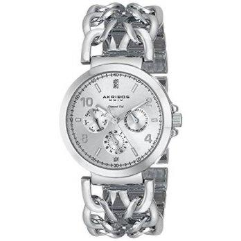 [macyskorea] Akribos XXIV Womens AK746SS Lady Diamond Silver-Tone Watch with Link Bracelet/9776232