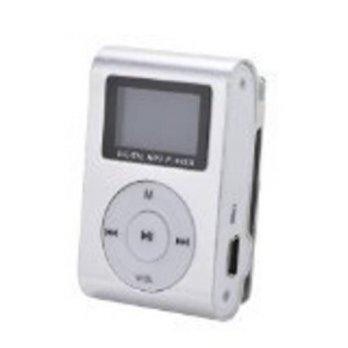 [macyskorea] Eastvita Silver Mini MP3 Player Clip USB FM Radio LCD Screen Support for
