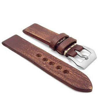Harga Poledit StrapsCo 26mm Brown Extra Thick Antique