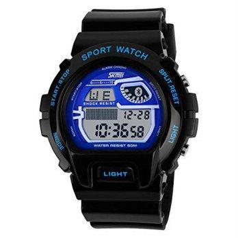 bd9176b5dbf7  worldbuyer  Huangtaii Mens LED Digital Multifunction Sport Watch with  Black Blue Color Kd 1380927