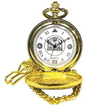 16ef2e2c10cb  worldbuyer  Sigma Impex Collectible Golden Free Masons Pocket Watch With  Chain