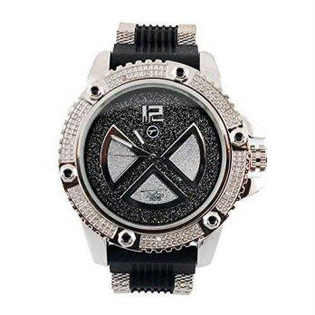 c4489e96c067  worldbuyer  Techno Pave Iced out Hip Hop Bling Riveted Silver and Black  Bullet with