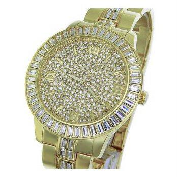 fbf0d256a3ef  worldbuyer  Xanadu Super BLING Mens Jumbo 18K GOLD Plated Watch Made with  SWAROVSKI Eleme