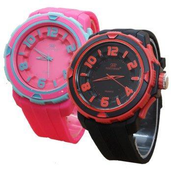 Fortuner Dual Time Fr J908 Jam Tangan Sport Wanita Rubber Putih Source · Fortuner S8097 Jam Tangan Wanita Rubber 5 Warna