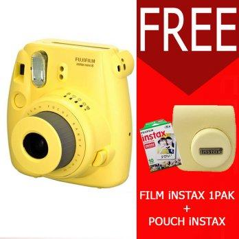 Fujifilm Instax Mini Camera 8s Yellow Free 1pack Film Instax Mini Polos Tas 8s Yellow