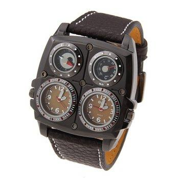 Oulm 1140 Multifunction Watch (Jam Tangan Multifungsi) Coklat
