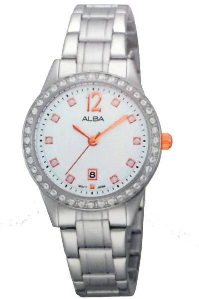 ALBA AH7E37X1 - Jam Tangan Wanita - Silver/Rosegold - Stainless Steel